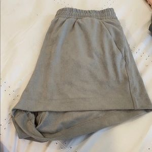 Suede gray shorts